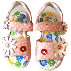 NEW Naturino Pink White Leather Girls Sandals 7 10